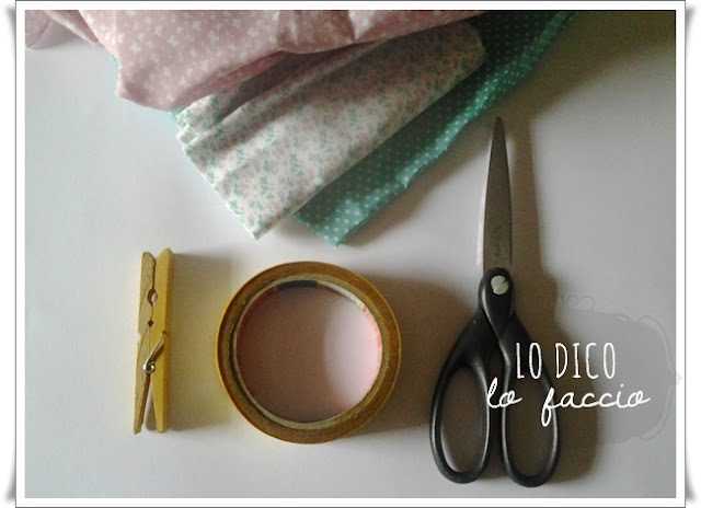 Come fare il washi tape riciclando avanzi di stoffa - tutorial