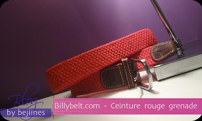 Mode - Ceinture Rouge Grenade - Billybelt.com