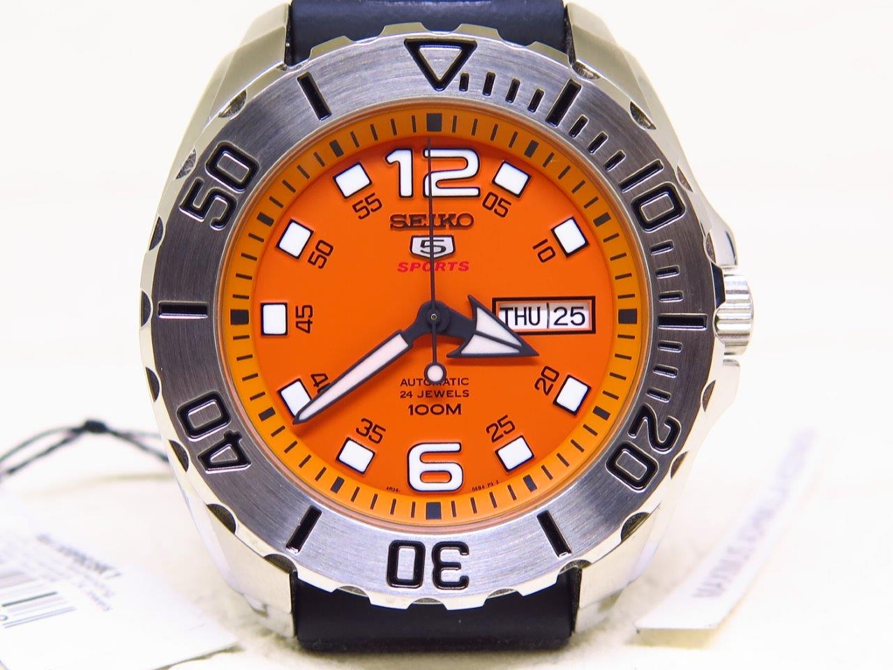 SEIKO 5 SPORTS ORANGE BABY MONSTER - SEIKO SRPB39K1 - AUTOMATIC 4R36A