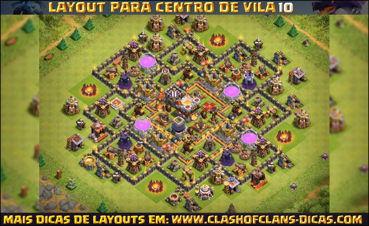 layouts para cv10 em clash of clans