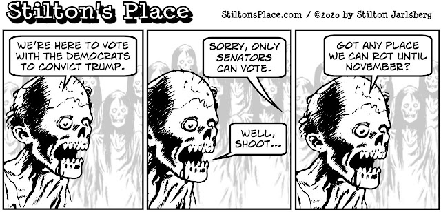 stilton's place, stilton, political, humor, conservative, cartoons, jokes, hope n' change, trump, trial, impeachment, dead voters, democrats, coup, don lemon