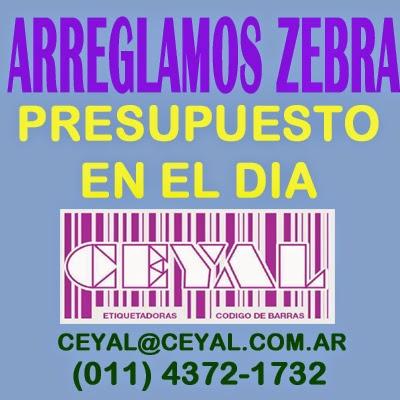 soluciones inmediatas y reparacion de impresoras Zebra (011) 4372 1732 Arg.