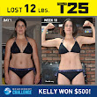 Kelly M. lost 12 lbs in 10 weeks with FOCUS T25.