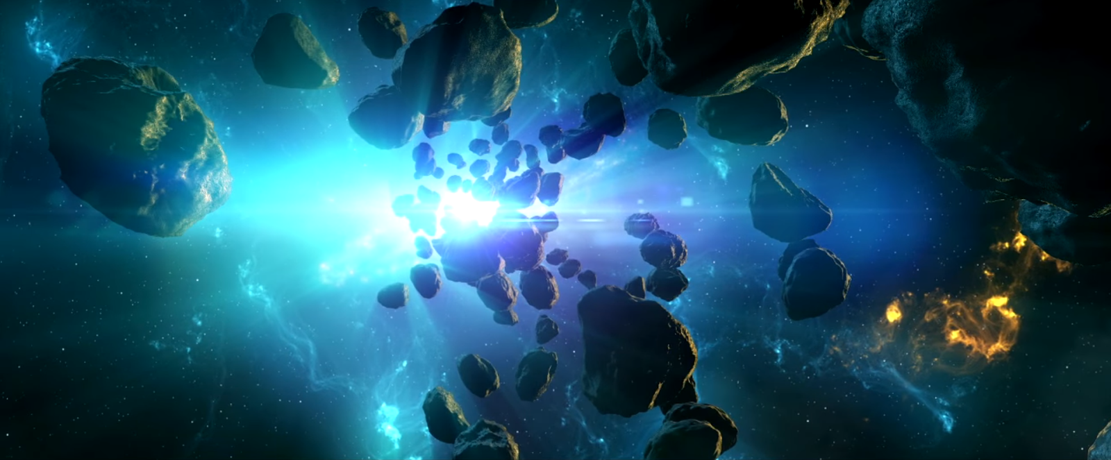 Create a space scene in after effects using element 3d for Space created