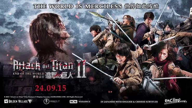 Attack on Titan: Part 2 (2015) Bluray Subtitle Indonesia
