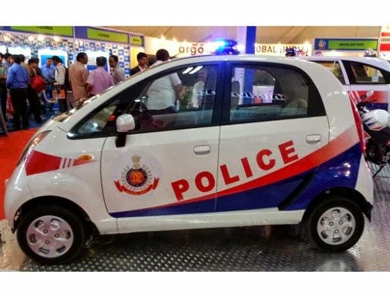 Tata Nano, A New Car For India Police Officer