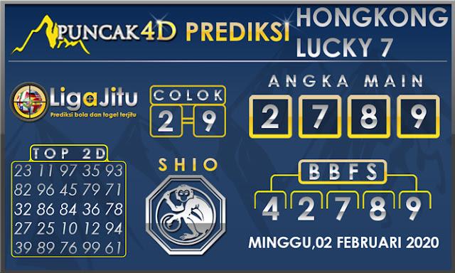 PREDIKSI TOGEL HONGKONG LUCKY7 PUNCAK4D 02 FEBRUARI 2020