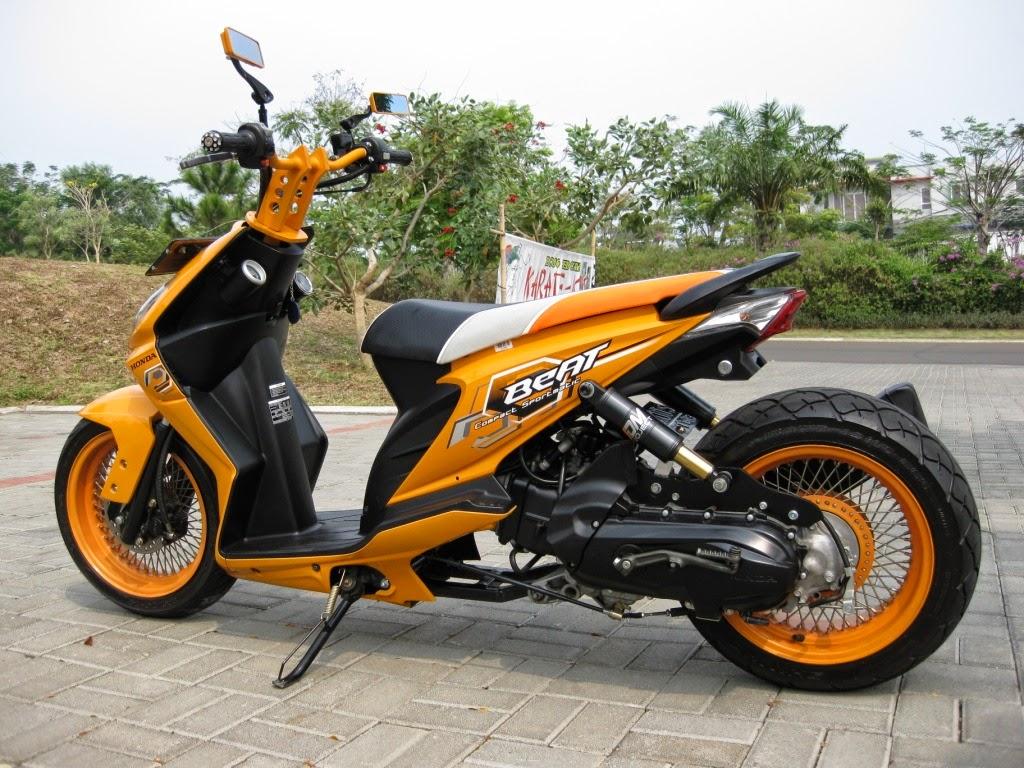 Foto Foto Modifikasi Honda Beat Low Rider