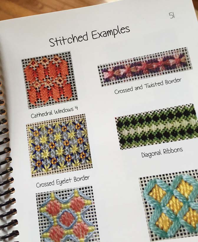 needlepoint stitches stitch diagrams 2003 buick rendezvous wiring diagram kreinik thread blog book review multi layered for we d trust them in a heartbeat advice about which threads and to use your needlework this features colored