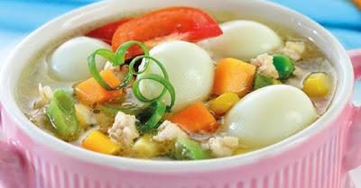 sop telur puyuh
