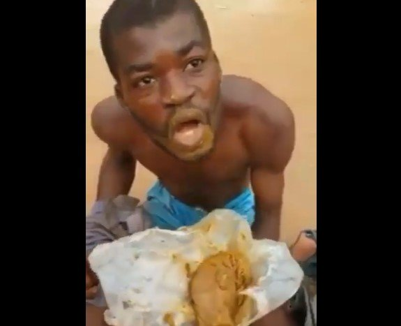 END TIME!! Man Caught With Feaces For Allege Ritual And Forced To Eat It (VIDEO)