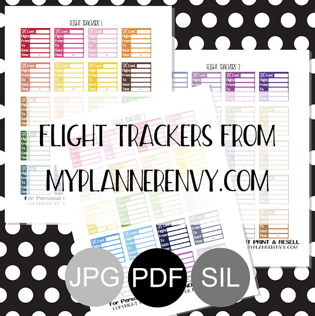 Free Printable Flight Trackers from myplannerenvy.com
