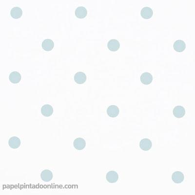 Papel Pintado Topos Azul Verdoso 043