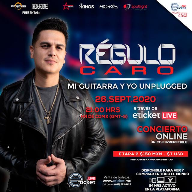 """""""Mi guitarra y yo unplugged"""" un evento vía streaming único de  Régulo Caro"""
