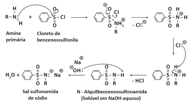 mecanismo do teste de Hinsberg
