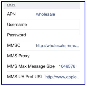 Ultra Mobile Data Settings