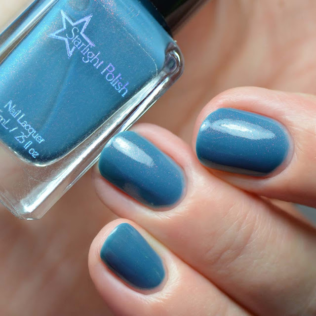 slate blue unicorn pee nail polish