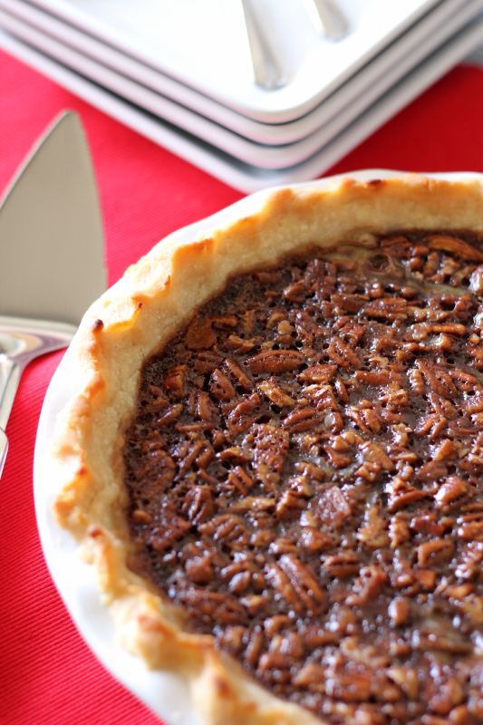 Bacon Bourbon Chocolate Pecan Pie from Around My Family Table