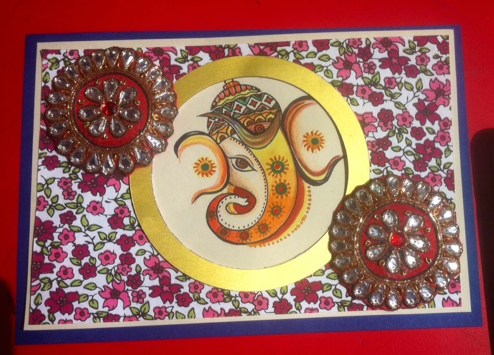 Let The Celebrations Begin After Rangoli Here Is Handmade Card For Diwali