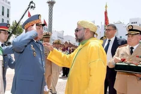 """القوات المسلحة تبارك لصاحب الجلالة الملك محمد السادس نصره الله مناسبة """"عيد العرش"""""""