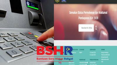 Semakan Status Bayaran BSH Fasa 3 (Julai) 2020 Bagi Isi Rumah & Bujang