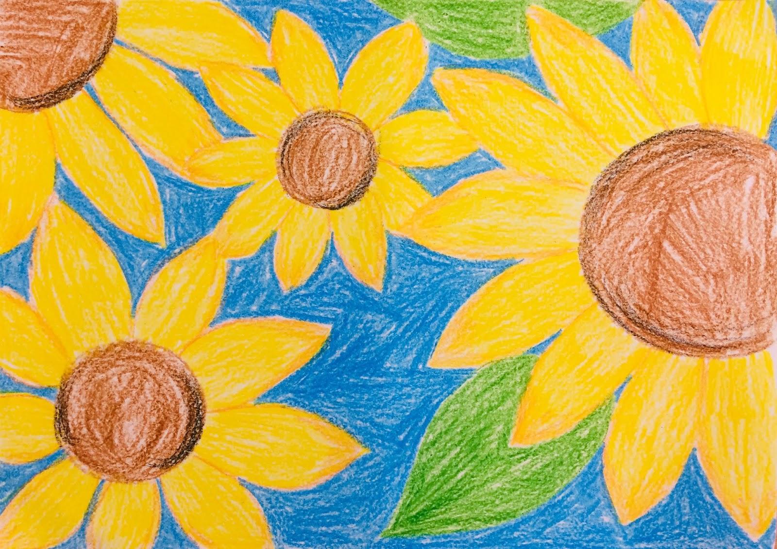 """""""Floarea-soarelui""""- Cum să faci un pastel Batik"""