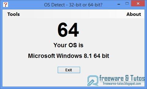 OS Detect : un outil portable pour savoir si on est en 32 bits ou 64 bits