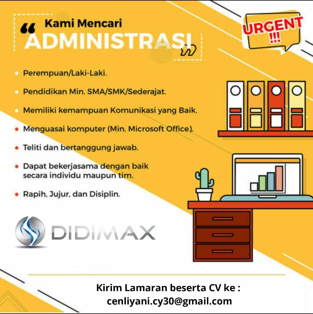 Lowongan Kerja Didimax Bandung Juli 2020