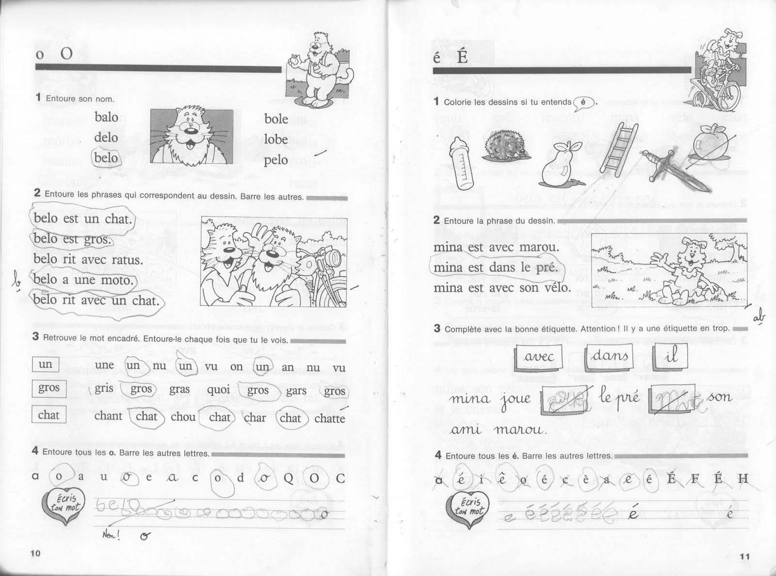 Fabuleux Manuels anciens: Guion, Ratus et ses amis CP, cahier de lecture (1994) TM68