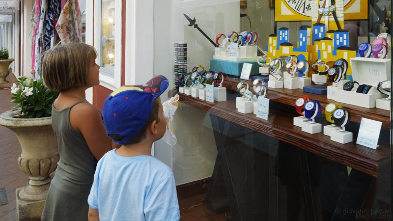 Negozio di orologi di lusso a Capri