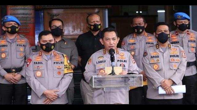 Ada 7 Jenderal Polisi Saat Pengumuman Habib Rizieq yang Ditetapkan Sebagai Tersangka