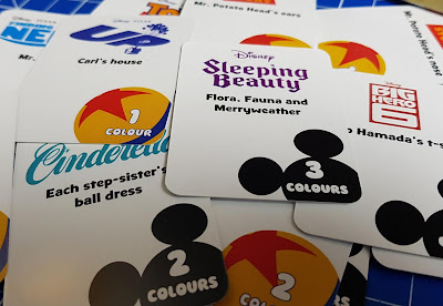 Disney Edition Colour Brain Review questions card examples