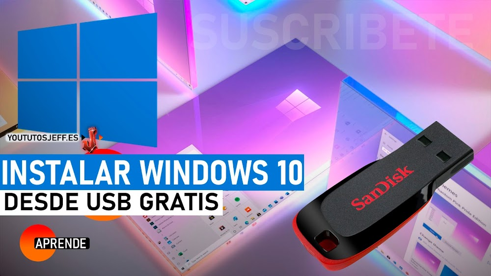 Instalar WINDOWS 10 desde USB 2021 GRATIS