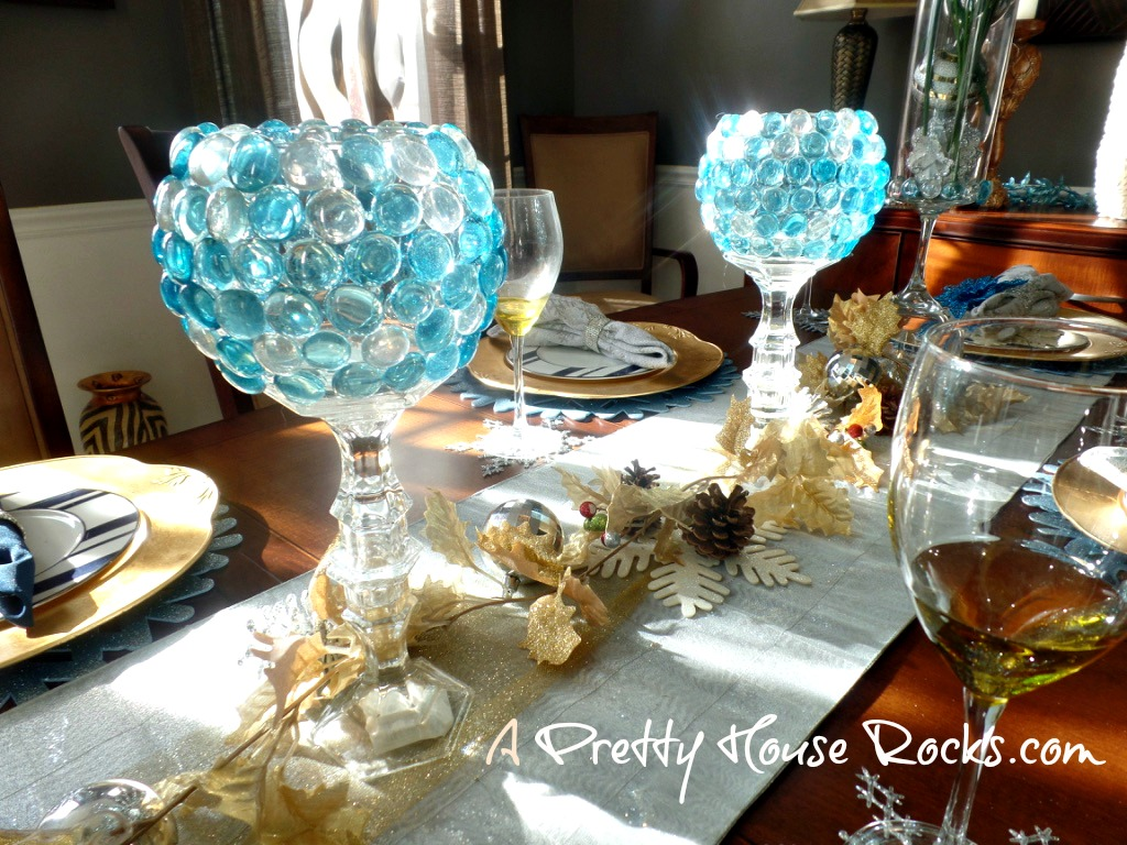 Diy Glass Candle Holders Using Items From The Dollar Store A