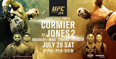 Horarios y Cartelera - UFC 214 Cormier vs Jones 2