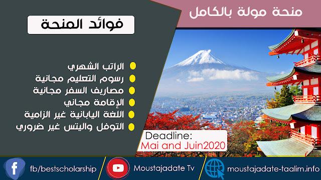 منحة الحكومة اليابانية MEXT 2021 (ممولة بالكامل) لدراسة البكالوريوس والدراسات العليا| اللغة اليابانية و IELTS / TOEFL ليست إلزامي