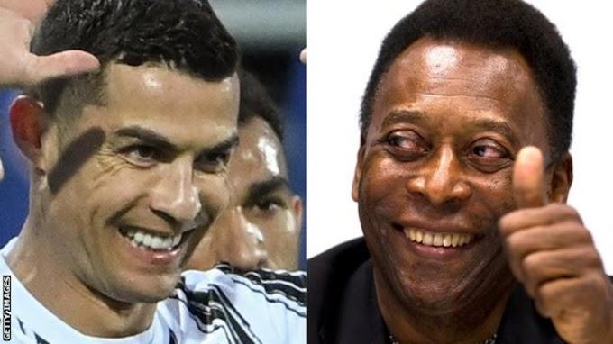 Pele congratulates hat-trick hero Cristiano Ronaldo for 'breaking my record'