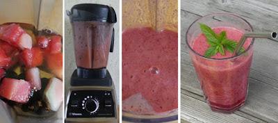 Zubereitung Wassermelonen-Jostabeer-Minz-Grüntee-Drink