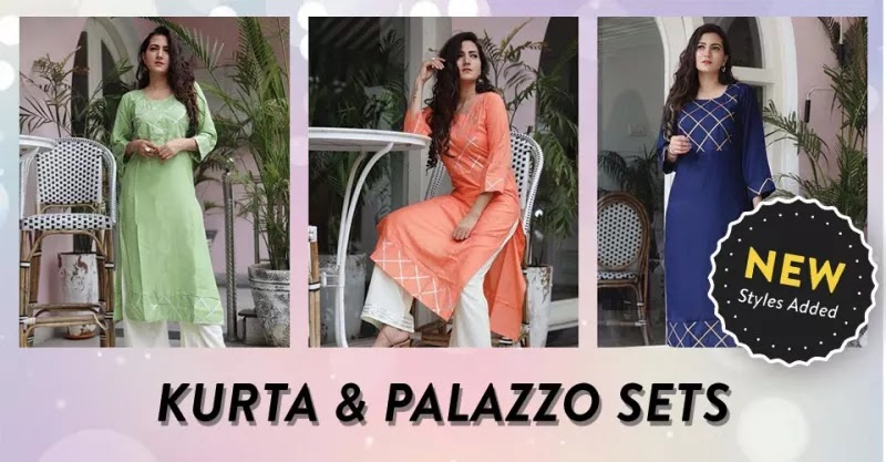 Desi Girl Kurta Palazzo Set Online Shopping Bazaar