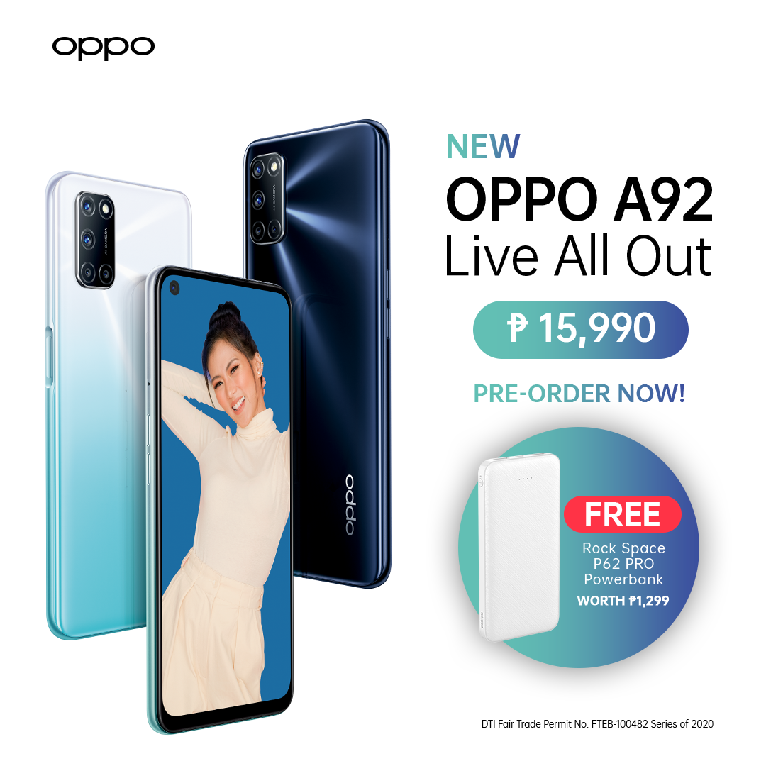 oppo a92 price and availability