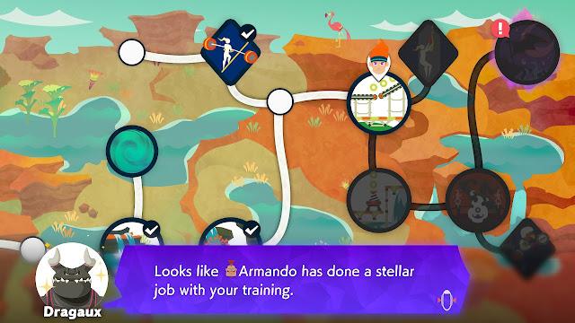 Ring Fit Adventure Dragaux compliments Armando stellar job training