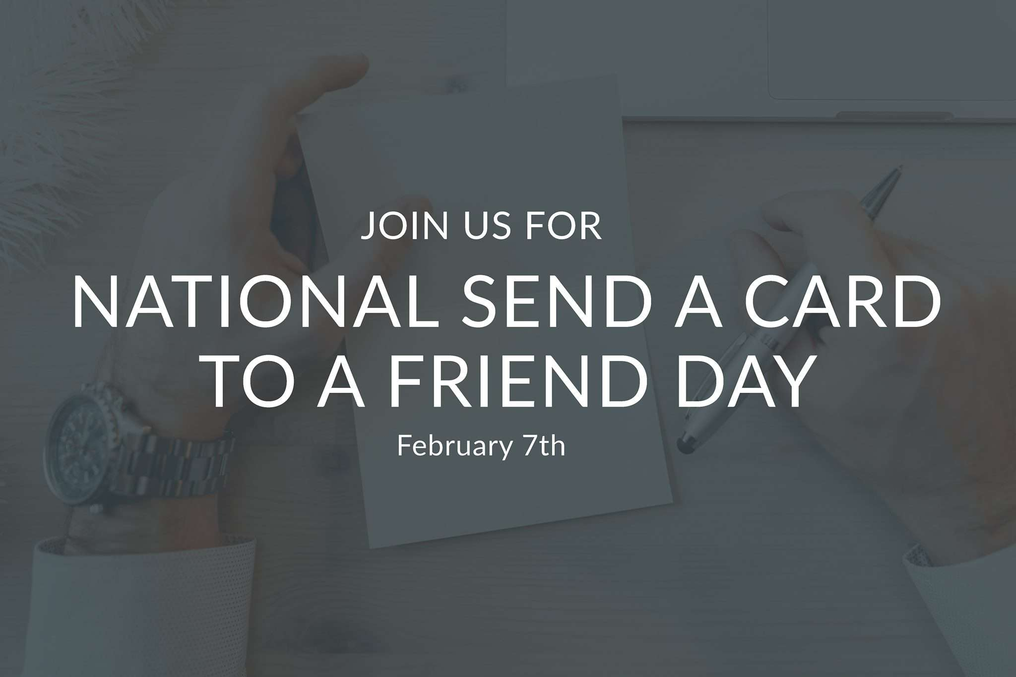 National Send a Card to a Friend Day Wishes for Instagram