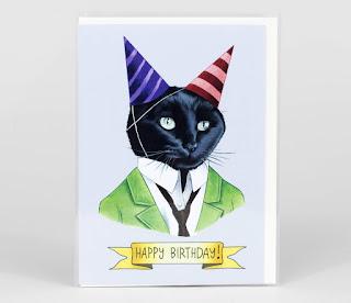 happy birthday and cat