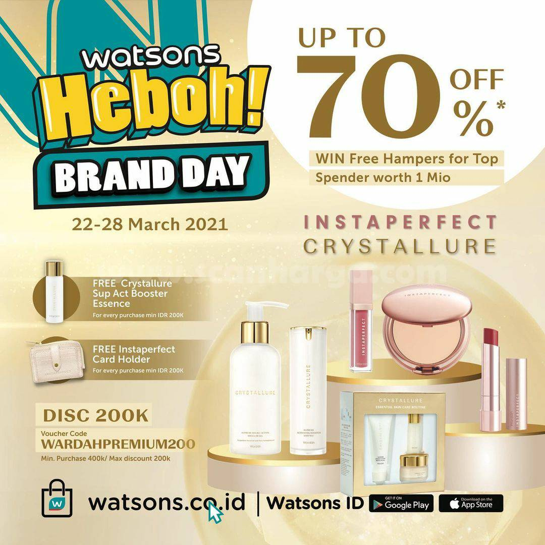 WATSONS Promo HEBOH BRAND DAY Disc. up to 70% Off