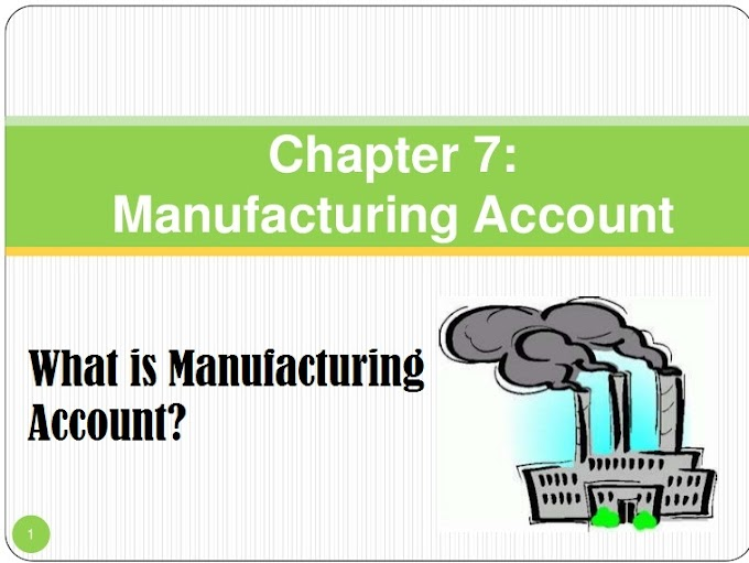 Manufacturing Account Definition - Format, Example, Preparation Method