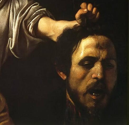 Risultati immagini per caravaggio testa mozzata