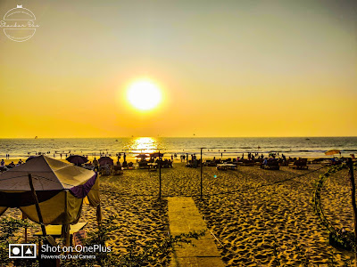 goa Baga beach sunset