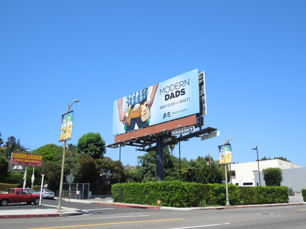 Modern Dads series 1 billboard