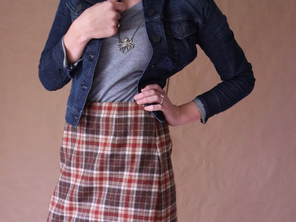 Handmade McCall's 3341 in Wool Plaid