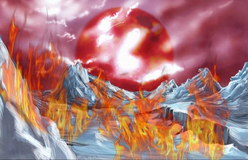 planeta de gelo e fogo